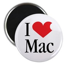I Love Mac heart products Magnet