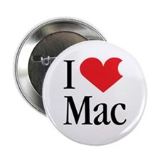 "I Love Mac heart products 2.25"" Button (100 pack)"
