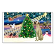 Xmas Magic & Sloughi Rectangle Decal