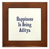 Happiness is being Aditya Framed Tile