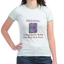 Midwives Change the World Jr. Ringer T-shirt