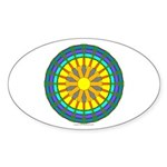 Sun Web Oval Sticker