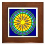 Sun Web Framed Tile