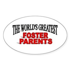 """The World's Greatest Foster Parents"" Decal"