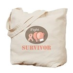 I Fight Breast Cancer Survivor Tote Bag