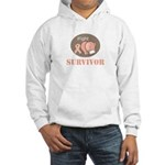 I Fight Breast Cancer Survivor Hooded Sweatshirt
