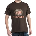 I Fight Breast Cancer Survivor Dark T-Shirt