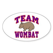 Team Wombat VI Oval Decal