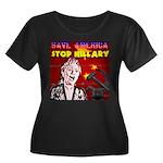 Stop Hillary! Women's Plus Size Scoop Neck Dark T-