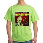 Stop Hillary! Green T-Shirt