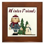 Winter Friends Framed Tile