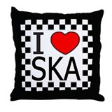 I Love SKA Throw Pillow