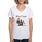 Winter Friends Women's V-Neck T-Shirt
