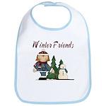 Winter Friends Bib