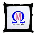 Omega Mu Throw Pillow