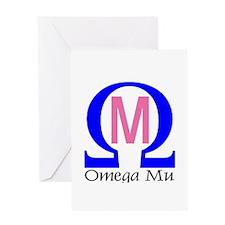 Omega Mu Greeting Card