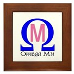 Omega Mu Framed Tile