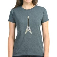 Women's V-shaped Guitar T-shirt