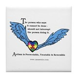 Autism is Treatable & Reversible Tile/Coaster