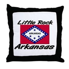 Little Rock Arkansas Throw Pillow