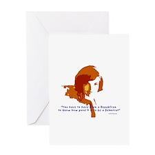 Jackie Kennedy Greeting Card