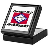 Forrest City Arkansas Keepsake Box