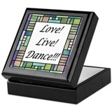 Stained Glass Dance Keepsake Box