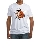 Ladybug Beetle (Front) Fitted T-Shirt