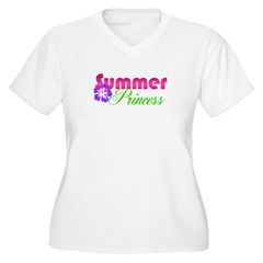 Summer Princess Women's Plus Size V-Neck T-Shirt
