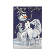 Snowman & Pony HH Rectangle Magnet (10 pack)