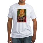 Michel de Montaigne Education Fitted T-Shirt
