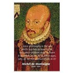 Michel de Montaigne Education Large Poster