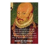 Michel de Montaigne Education Postcards (Package o