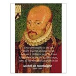 Michel de Montaigne Education Small Poster