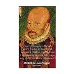 Michel de Montaigne Education Sticker (Rectangular