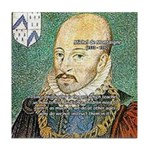 Michel de Montaigne Education Tile Coaster