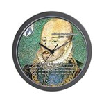 Michel de Montaigne Education Wall Clock