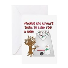 Snowman Bowl Greeting Card