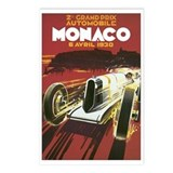 Monaco Race Car Postcards (Package of 8)