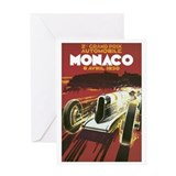 Monaco Race Car Greeting Card