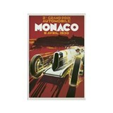 Monaco Race Car Rectangle Magnet