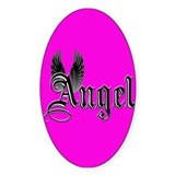 Angel Oval Bumper Stickers