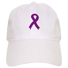 Purple Ribbon Baseball Cap