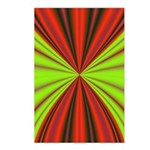 Red Drapery Fractal Postcards (Package of 8)
