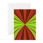 Red Drapery Fractal Greeting Cards (Pk of 20)