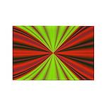 Red Drapery Fractal Rectangle Magnet (10 pack)