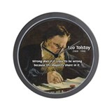 Leo Tolstoy: True Philosophy Wall Clock