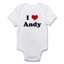I Love Andy Infant Bodysuit