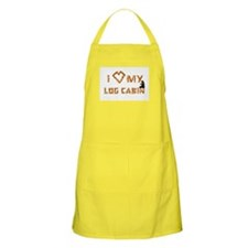 """I Love My Log Cabin"" BBQ Apron"