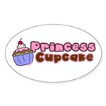 Princess Cupcake Oval Sticker